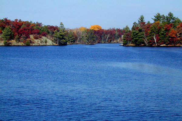 High Falls Flowage in the Fall